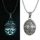 Fun Steampunk Pretty Magic Oval Locket Fairy Glow In The Dark Pendant Necklace