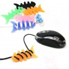 New 1PC Silicon FishBone Headphone Cord Wire Cable Organizer Holder Wrap Winde