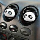 2PCS Cute Panda Car Perfume Air Freshener Auto Decoration Detailing Accessories