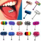 With Battery Steel Sexy Vibrating Tongue Bar Ring Stud Body Piercing Jewelry FT