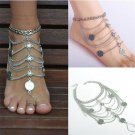 1PC Fashion Sexy Silver Anklet Chain Ankle Bracelet Foot Jewelry Barefoot Sandal