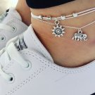 HOT Sexy Women Silver Chain Anklet Bracelet Barefoot Sandal Beach Foot Jewelry
