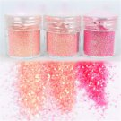 Sexy For UV GEL Acrylic Decoration Tips 3 Mix Color Nail Art Glitter Powder Dust