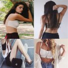 Sexy Charm Small Hollow Striped Suspenders Tops Women Bralette Sport Vest FT03