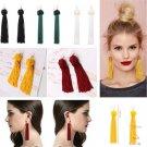 Fashion Women Bohemian Earrings Long Tassel Fringe Dangle Earrings Jewelry FT