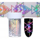Fashion Holographic Nail Foil Starry Laser Triangle Nail Art Transfer Sticker FT