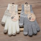1Pair Touch Screen Gloves Women Girl Stretch Knit Mittens Winter Warm Gloves