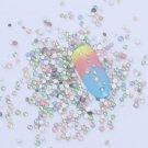 Charm Nail Art 3D Flat Bottom Opal Rhinestones Glitter Tips Decoration FT