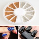 2 colors Cool Punk Stud Nail Art 3D Design Decoration Stickers Metallic Studs FT