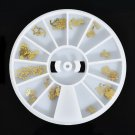 Stamping Manicure Stickers Gold Decal Stickers DIY Nail Art Decoration Tips FT