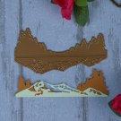 Gold Mountain Tree Metal DIY Cutting Dies Stencil Scrapbooking Album Card Craft
