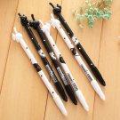 2Pcs Cute Lovely Black Cat Gel Ink Roller Ball Point Pen Korean School FT