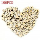 100pcs Lots Rustic Wood Wooden Love Heart Wedding Table Scatter Decor Crafts DIY