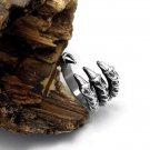 Charm Men's Adjustable Fashion Gothic Punk Skull Head Biker Finger Rings FT