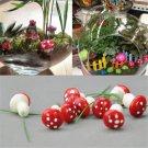 20PCS Fun Mini Red Mushroom Garden Ornament Miniature Plant Pots DIY Dollhouse F