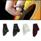 Colorful 3 Finger Picks + 1 Thumb Pick Plectrums Guitar Plastic Random Color FT