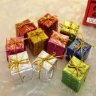 Mini 12pcs/set Christmas Ornaments Foam Gift Box Xmas Tree Hanging Party Decor