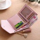 Charm Women Tassel Wallet Card Holder Clutch Coin Purse Leather Handbag Purse