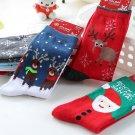Soft Unisex Christmas Cotton Socks Santa Snowman Snowflake Socks Gifts FT