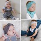 Lovely Kids Girl Baby Toddler Crochet Bow Headband Hair Band Accessories FT