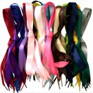 Candy Color Silk Ribbon Flat Shoelaces Shoe Laces Sneaker Sport Strings 1Pair FT