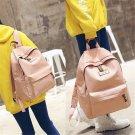 Unisex Canvas Shoulder School Bag Backpack Travel Satchel Rucksack Handbag FT