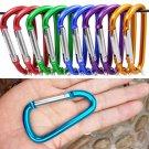 5PCS Aluminum D-Ring Carabiner Key Chain Clip Hook Camping Keyring Random Color