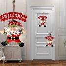 Cute Santa Claus Door Hanging Christmas Tree Home Decor Ornaments Xmas Gift FT