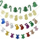 Fashion Christmas Party Decor Hanging Snowman Snowflake Tree Sock Banner Decor