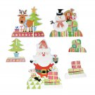 Santa Claus Elk Snowman Christmas Card Home Decoration Home Party Gift Decor FT