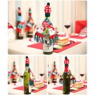 Christmas Wine Cover Clothes Xmas Santa Reindeer Table Bottle Decor Party FT