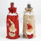 Cute Christmas Santa Snowman Table Party Decor Xmas Ornament Wine Bottle Cover