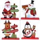 Cute Santa Claus Snowman Christmas Xmas Decor Living Room Table Ornament Craft