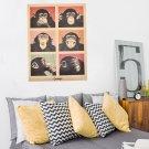Creative Orangutans Adornment Home Decor Paper Retro Poster Kraft Wall Sticker