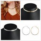 Simple Charm Women Sequins Fish Bone Choker Collar Chain Necklace Boho Jewelry