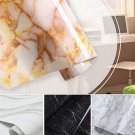 1PCS PVC Marble Contact Paper Self Adhesive Glossy Worktop Peel Stick Paper NEW