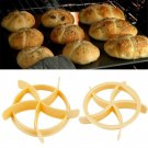 Yellow Roll Maker Mold Windmill Cake Bread Seal Cutter DIY For Kitchen Baking FT
