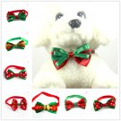 Lovely Christmas Dog Cat Pet Puppy Bowknot Necktie Collar Bow Tie Clothes FT
