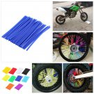 Plastic Wheel Spoke Wraps Kit Rims Skins Covers Guard Protector Motocross Bike