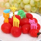 10pcs Bento Lovely Animal Food Fruit Picks Forks Lunch Box Accessory Decor Tool