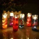 Romantic Glass Bottles Ocean Theme Smokeless Jelly Wax Party Gel Candles 1PCS