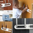 1Pcs Baby Plastic Safety U Shape Lock Security For Cabinet Cupboard Door Drawer
