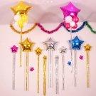 DIY Aluminum Foil Star Rain Silk Balloon Birthday Wedding Party Home Decor Set