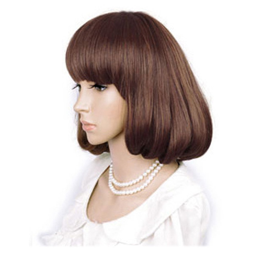 Cute High Quality Fashion Sweet Lady Wig Short Hair Natural Bob Light Brown: Wig Cap: Comb