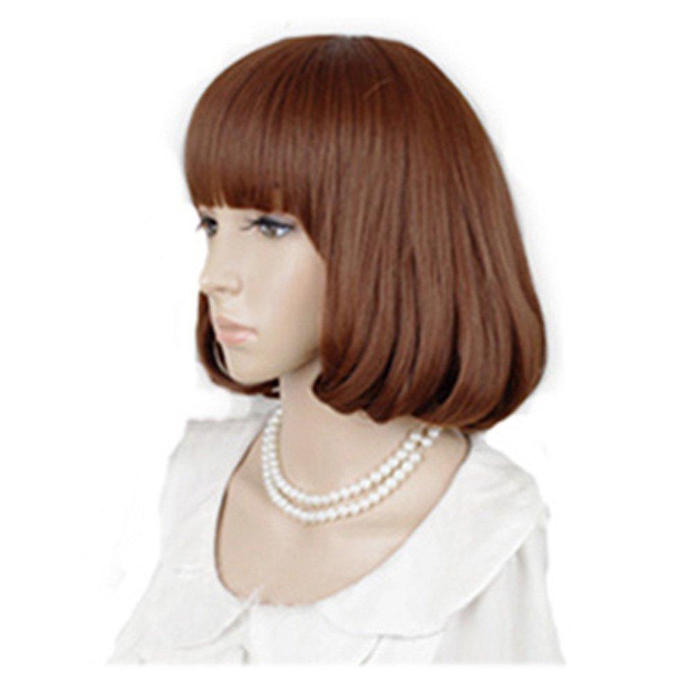 Cute High Quality Fashion Sweet Lady Wig Short Hair Natural Bob Orange: Wig Cap: Comb