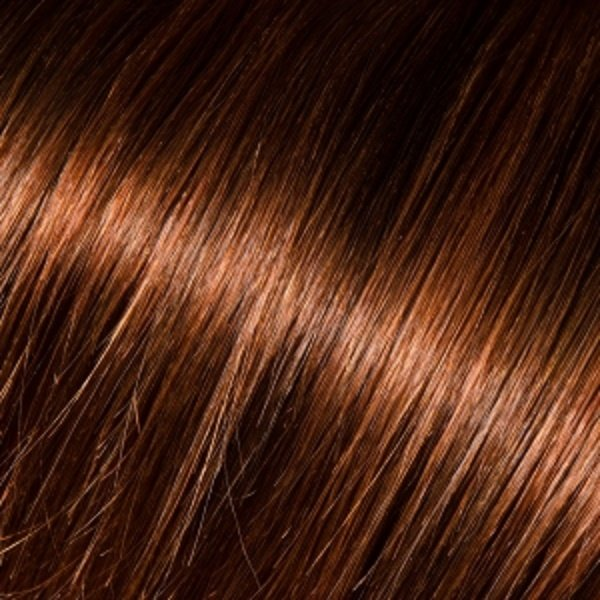 Donna Bella Milan 16 inche Full Head Human Clip-In #4/33: (Dark Auburn Brown)