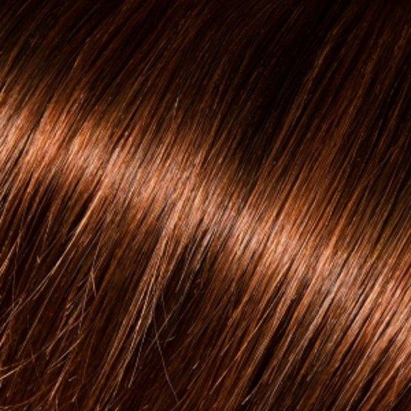 Donna Bella Milan 16 inche Full Head Human Clip-In #4: (Dark Brown)