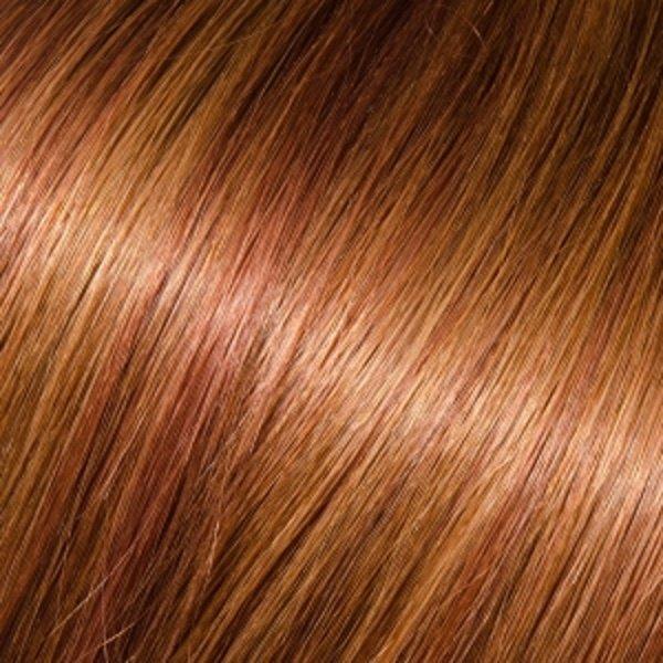 Donna Bella Milan 16 inche Full Head Human Clip-In  30/33 (Dark Chestnut Auburn)