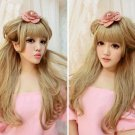 Gorgeous 25 inches Lace Front Long Hair Wig Blonde Wig for Women