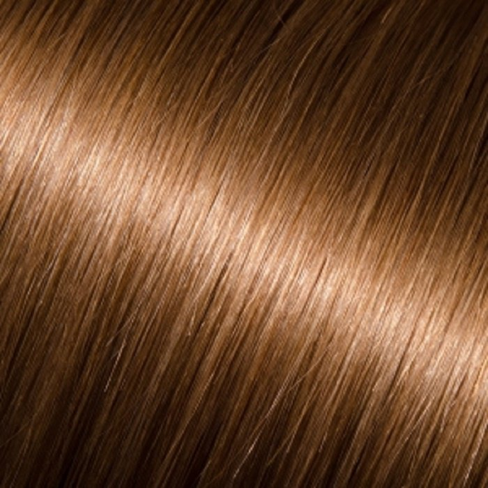 """Donna Bella 22"""" Pure Human Remy Hair I-Link Pro Straight #8 (Light Chestnut Brown)"""
